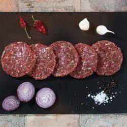 Fleisch aus der Schulter mit dem richtigen Fettgehalt und kräftigem Aroma